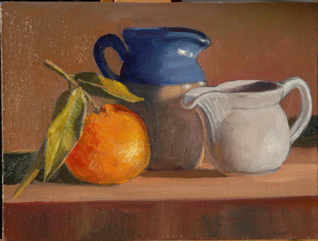 Sergey Valentinovich Karetnikov. Still life with jugs