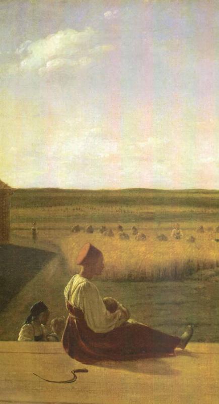 Alexey Gavrilovich Venetsianov. At the harvest. Summer. Detail