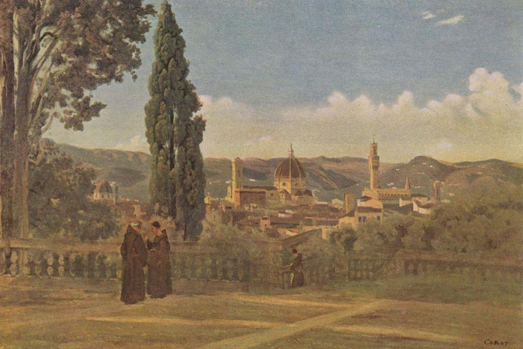 Камиль Коро. Вид из садов Боболи на Флоренцию