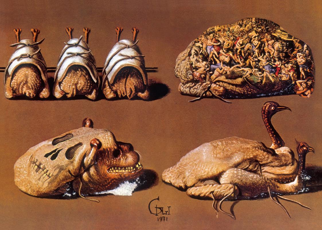 "Salvador Dali. Illustration for the book ""Les Diners de Gala"""