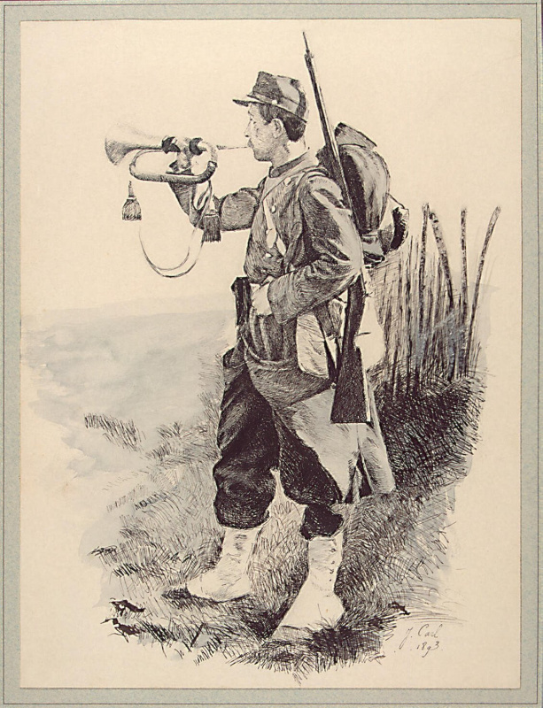Ж. -А. Карл. Трубящий солдат