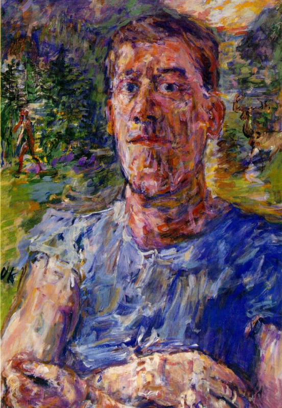 Оскар Кокошка. Автопортрет (Портрет художника-дегенерата). 1937