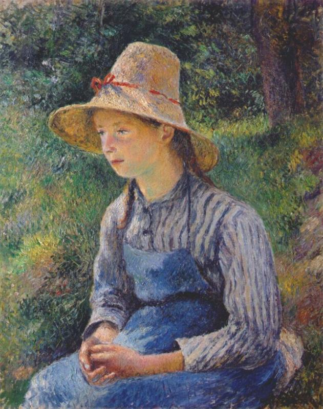 Эдвард Кертис. Молодая крестьянская девушка в шляпе