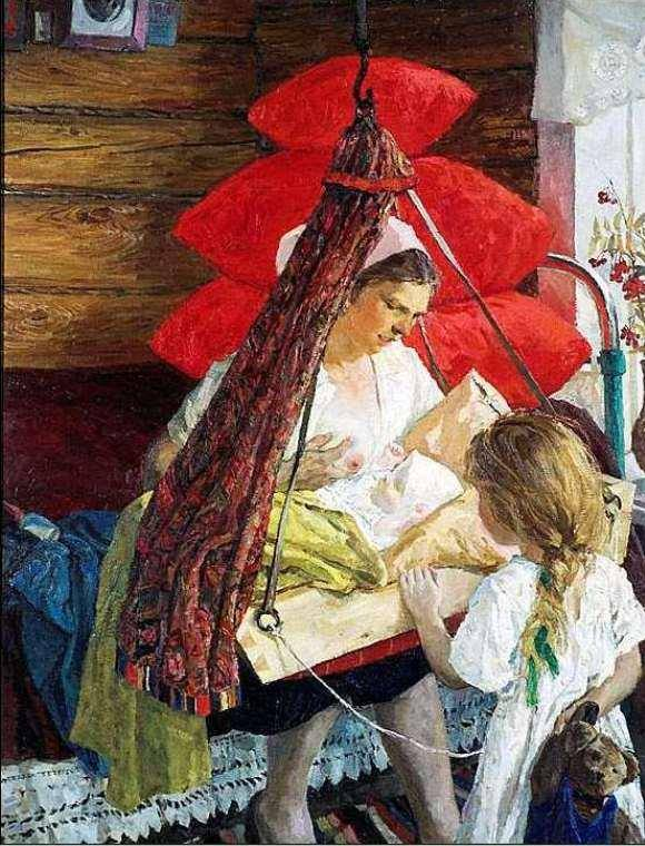 Arkady Aleksandrovich Plastov (1893 - 1972). Mama.