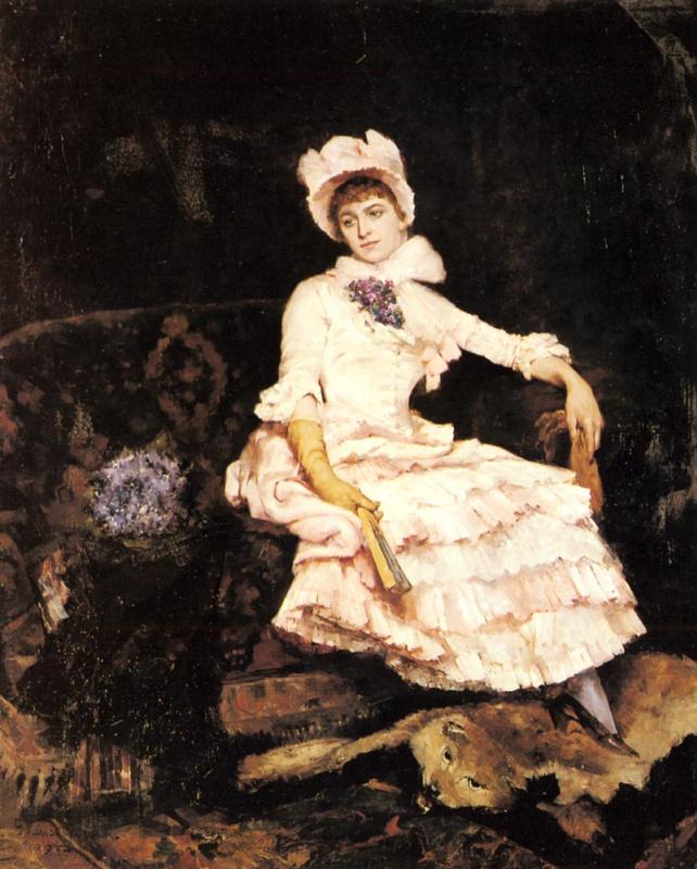 Элегантная дама в розовом