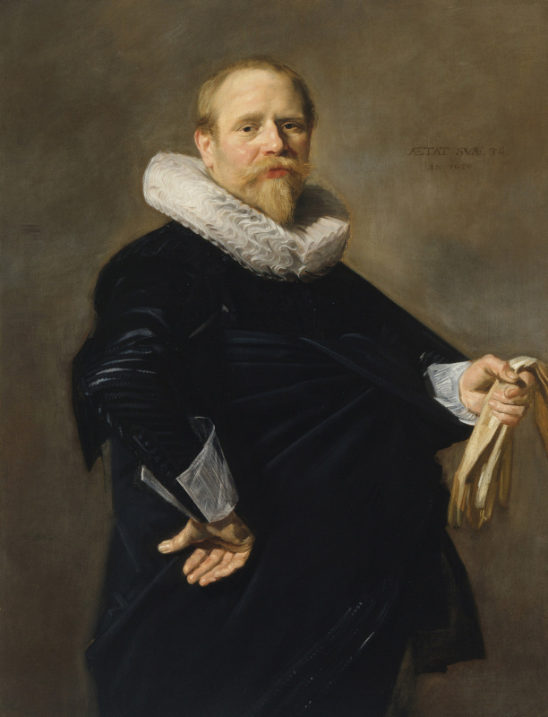 Франс Хальс. Портрет мужчины с перчатками