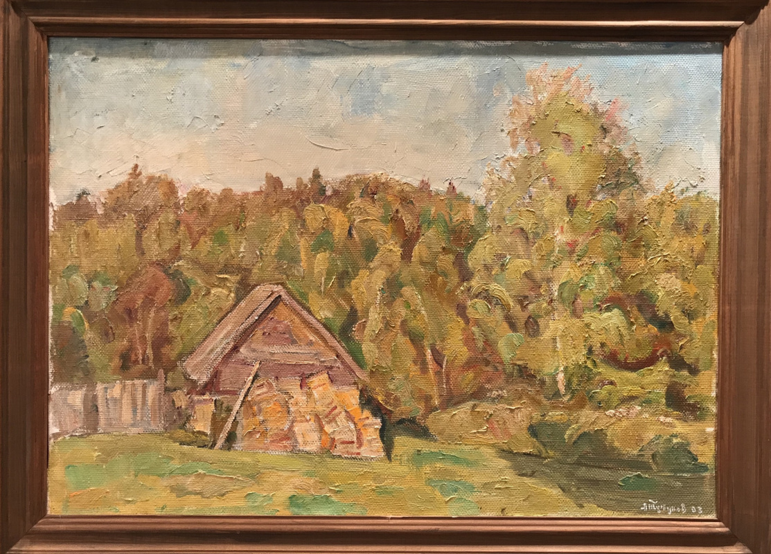 Andrey Andreevich Tutunov. Shed with wood