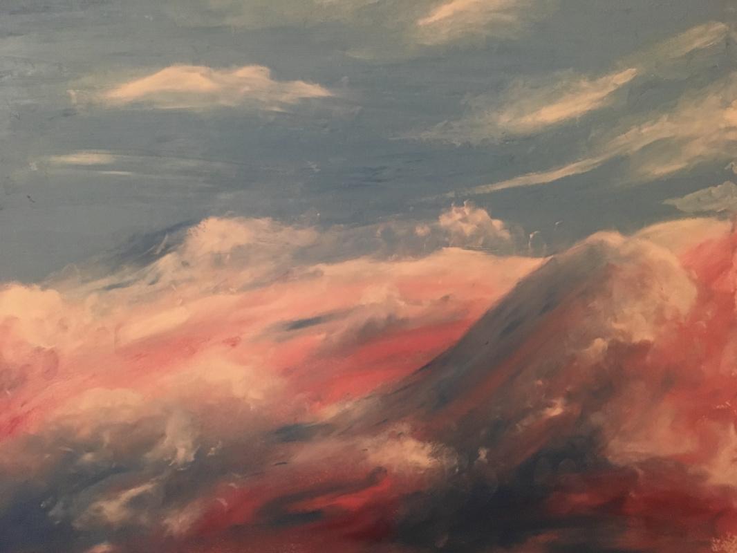 Elena Kokhno. Wavy sky or heavenly waves