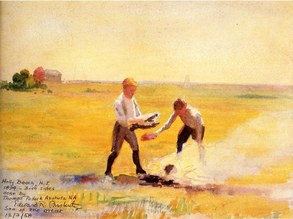 Томас Поллок Аншутц. Пляж