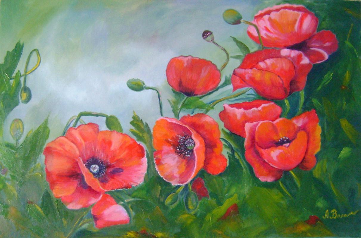 Lyubov Viktorovna Volobaeva. Poppies