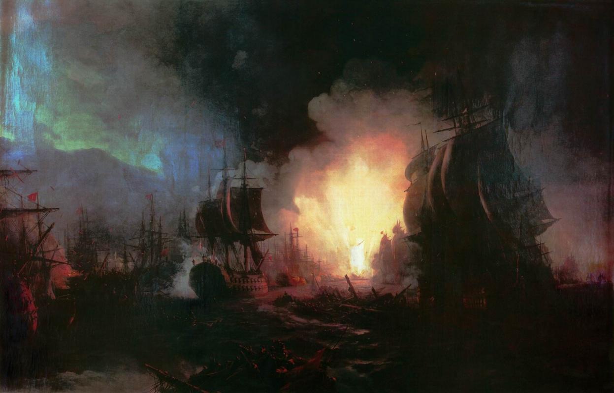 Ivan Aivazovsky. The battle of Chesma