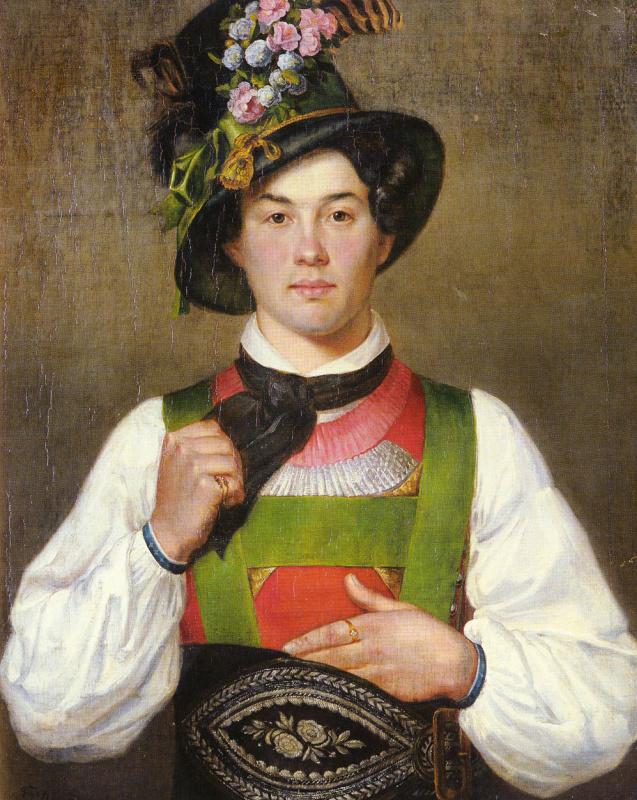 Франц фон Дефреггер. Молодой человек в тирольском костюме