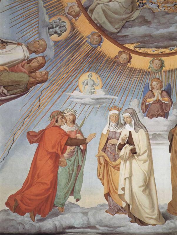 Филипп Фейт. Эмпирей и восемь небес Рая. Небо луны. Данте и Беатриче