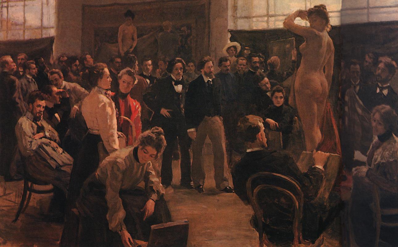 Boris Kustodiev. In the Studio of I. E. Repin Academy of arts