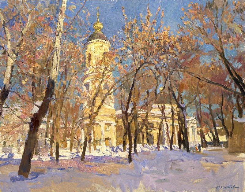 Yuri Krotov. Spring on Ordynka. 2011 80x100 Oil on canvas.