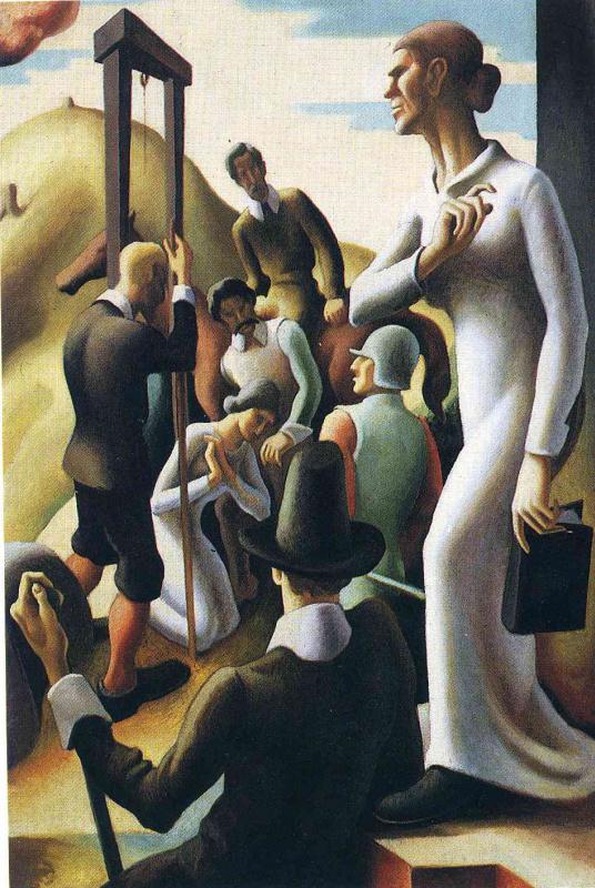 Thomas Hart Benton. The woman in white