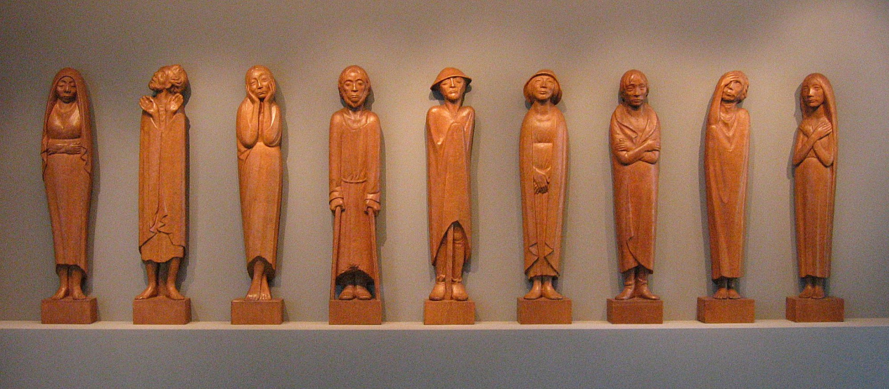 "Ernst Barlach. Frieze ""Listeners"""