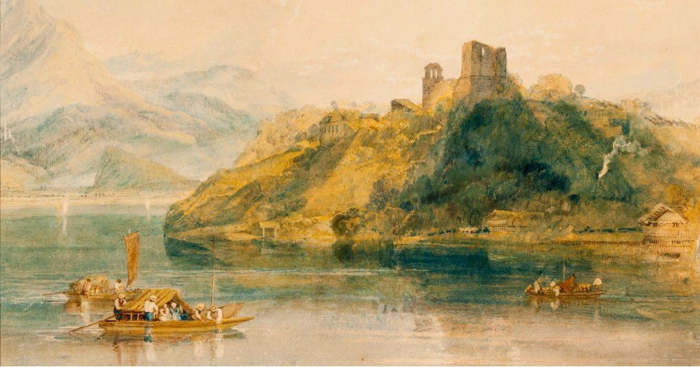 Joseph Mallord William Turner. Castle Rinkenberg, Lake Brienz, Switzerland