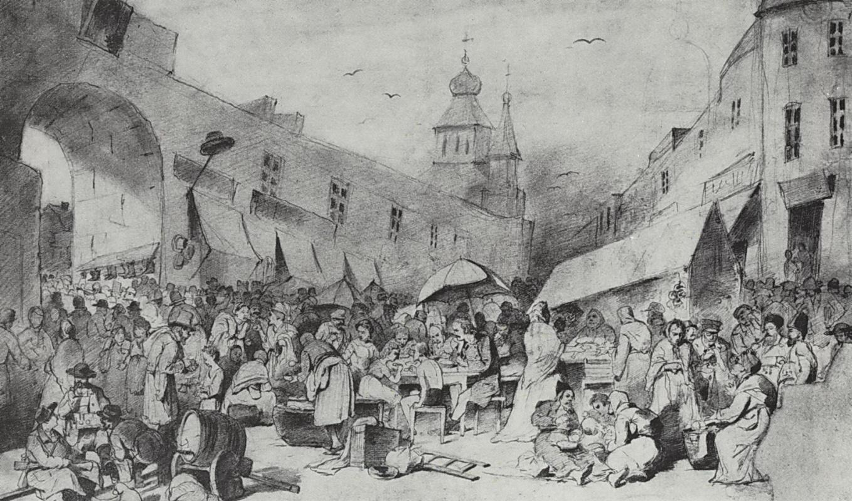 Василий Григорьевич Перов. Толкучий рынок в Москве