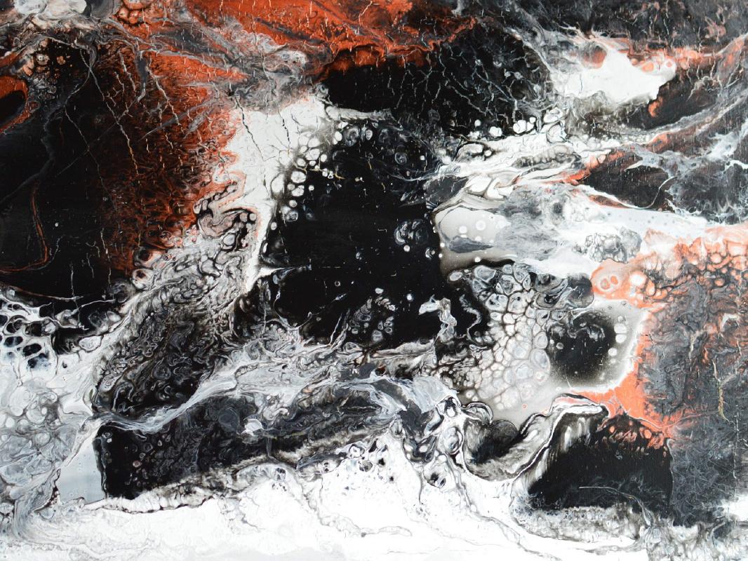 Victoria Rutskaya. Черно-белая абстрактная картина
