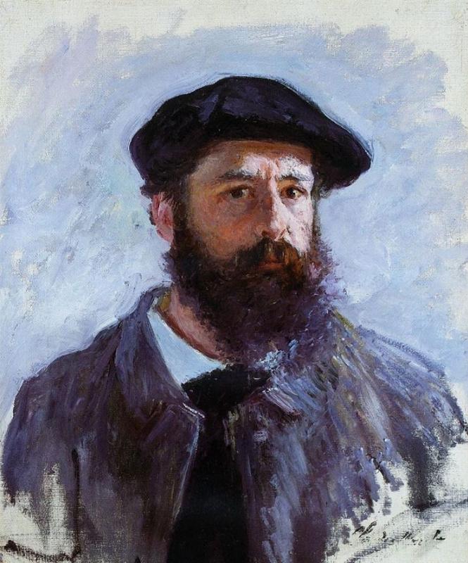 Claude Monet. Monet self portrait in a beret