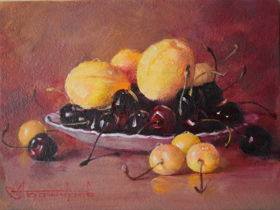 Andrey Bashirov. Cherries and apricots