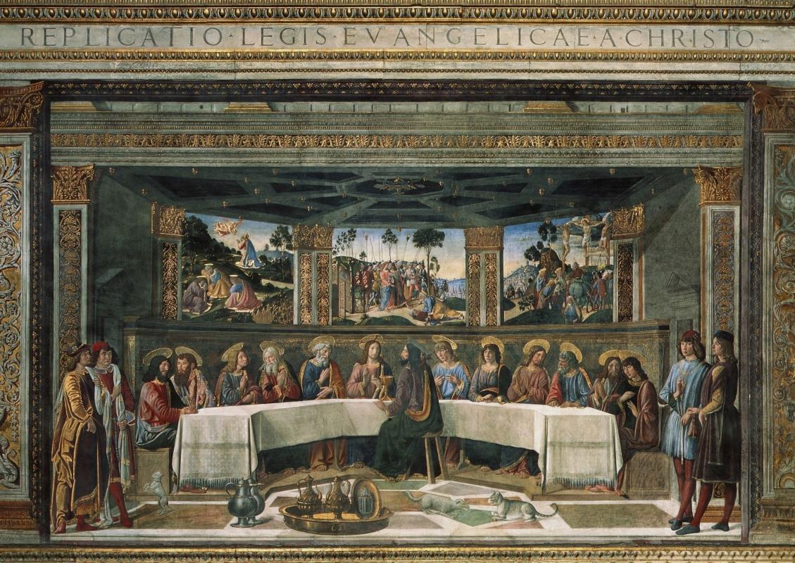 Cosimo Rosselli. The last supper (co-authored with Biagio d'antonio)
