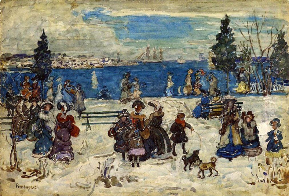 Maurice Braziel Prendergast. April snow, Salem