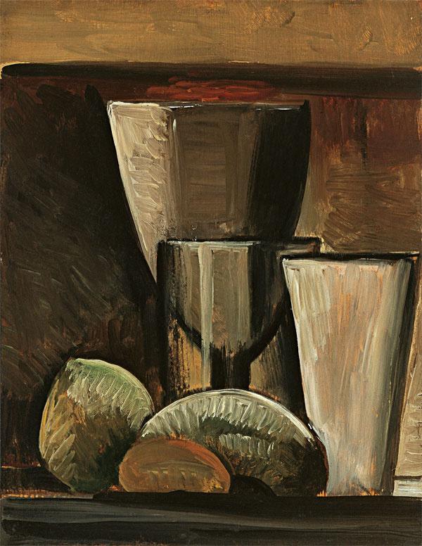 Пабло Пикассо. Бокалы и фрукты