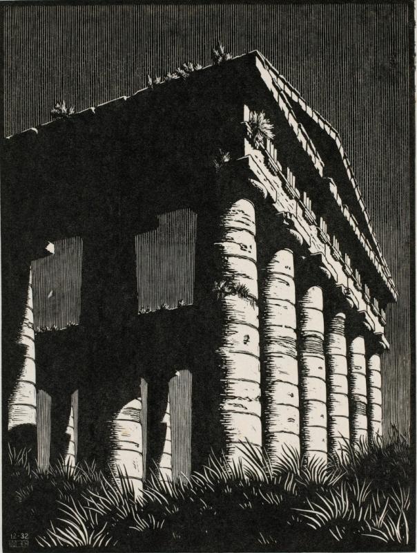 Мауриц Корнелис Эшер. Храм Сегесте, Сицилия