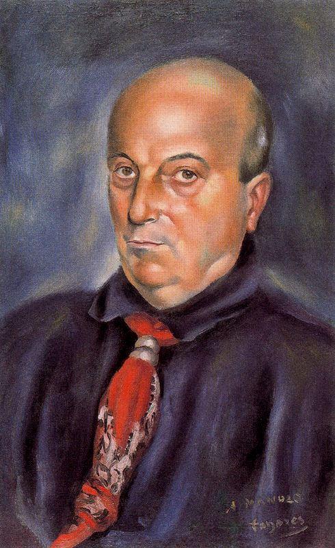 Хосе де Тогорес. Портрет мужчины в красном галстуке