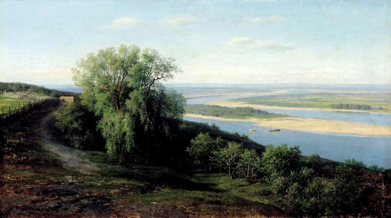 Михаил Константинович Клодт. Волга под Симбирском