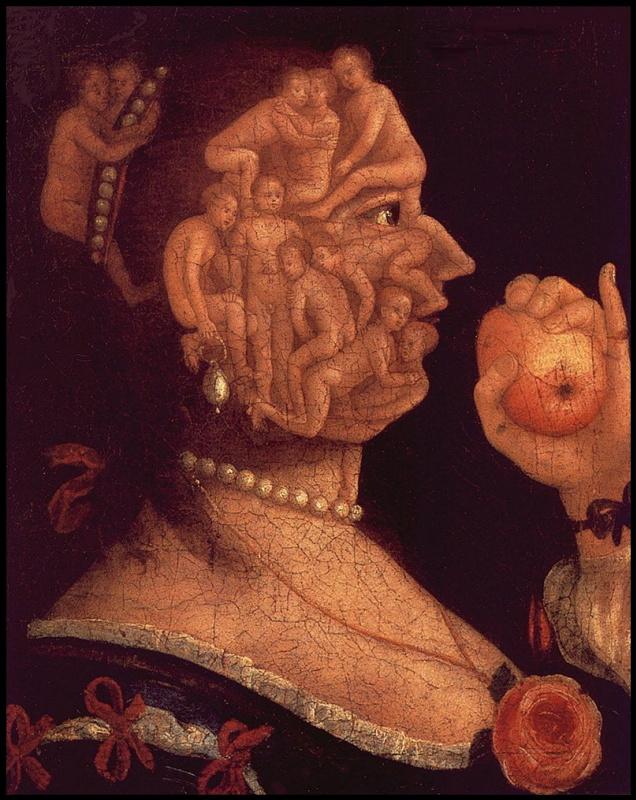Джузеппе Арчимбольдо. Портрет Евы