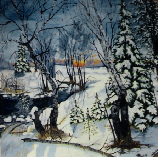 Vladimir Adamovich Ropot. Frosty morning
