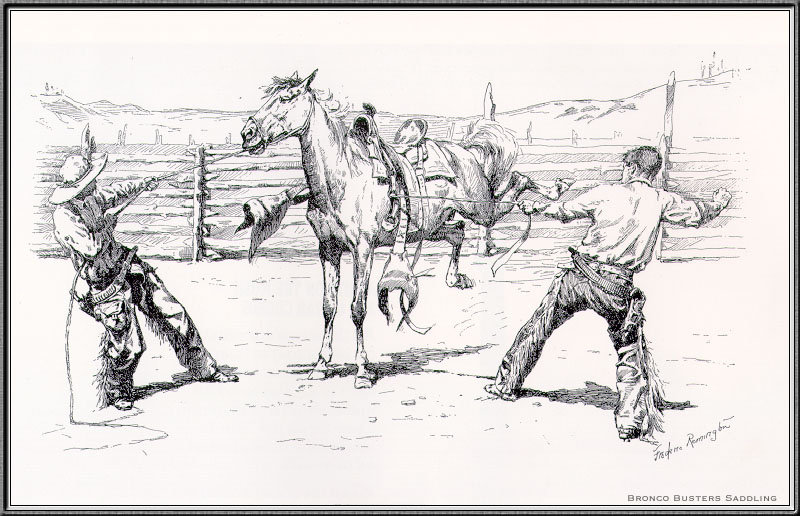 Frederick Remington. The tail Wrangler Bronco