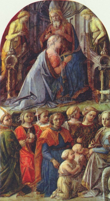 Filippino Lippi. The Crowning Of Mary