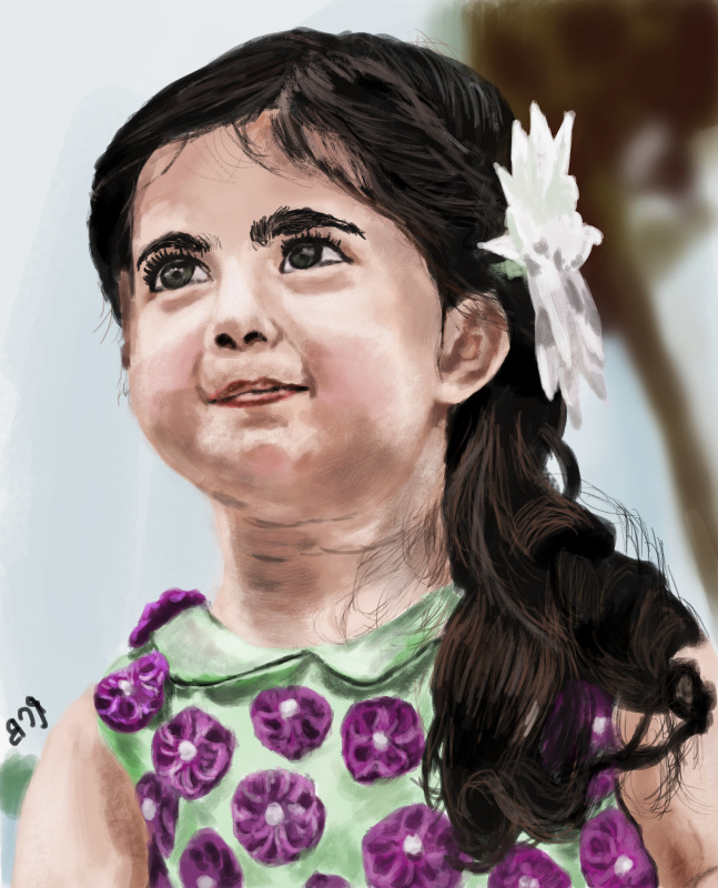 Christopher Rozario. Little Girl Staring