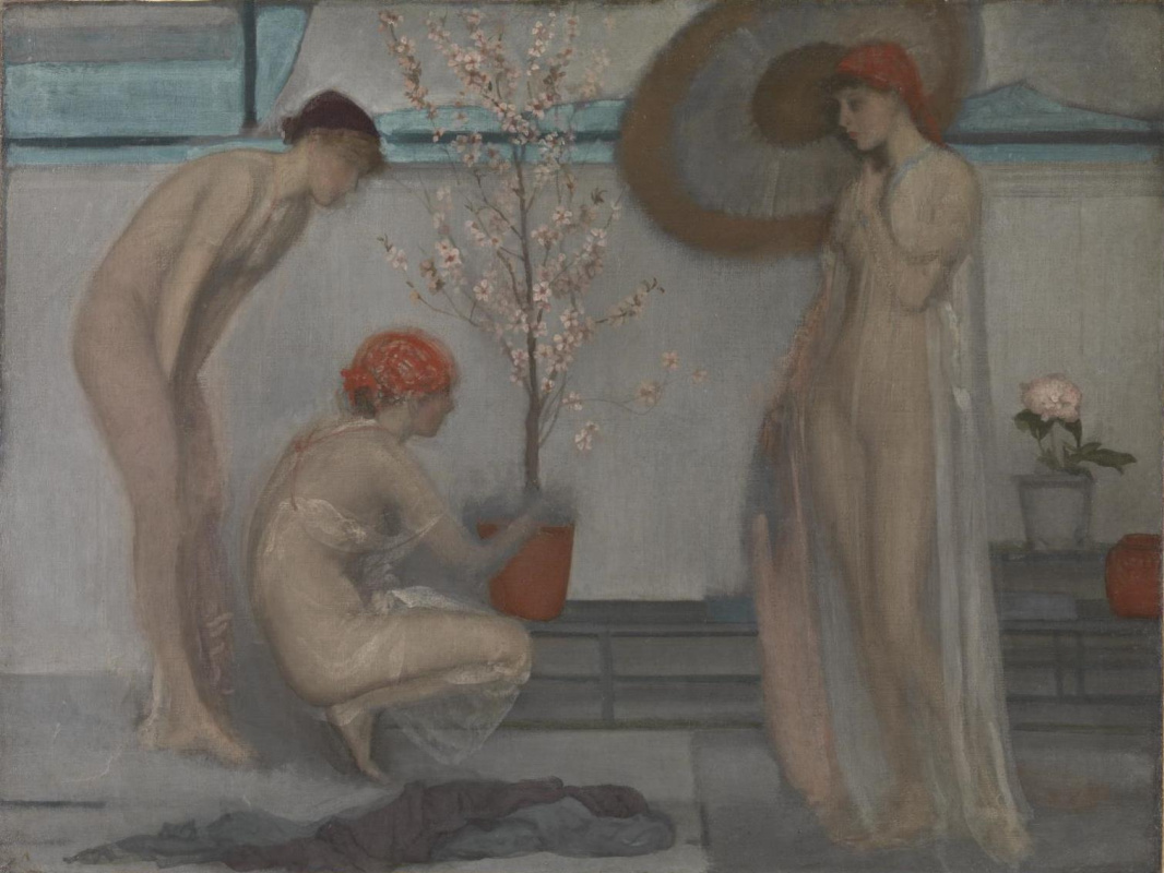 James Abbot McNeill Whistler. Three figures: pink and grey