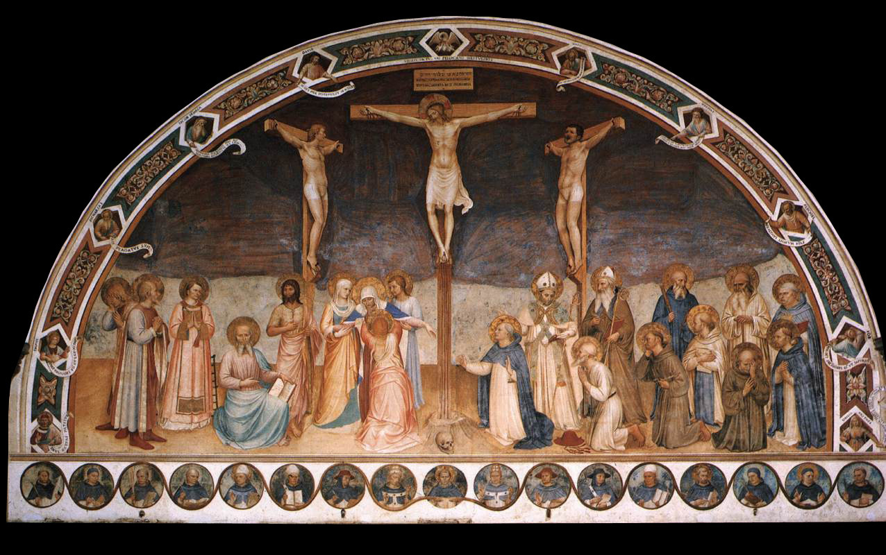 Фра Беато Анджелико. Распятие и святые. Фреска зала капитула монастыря Сан Марко, Флоренция