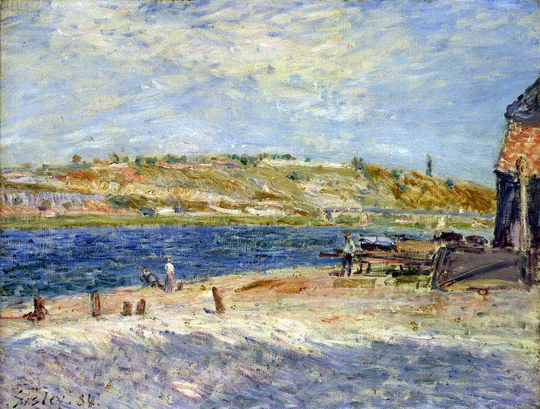 Альфред Сислей. Берег реки в Сен-Маммес