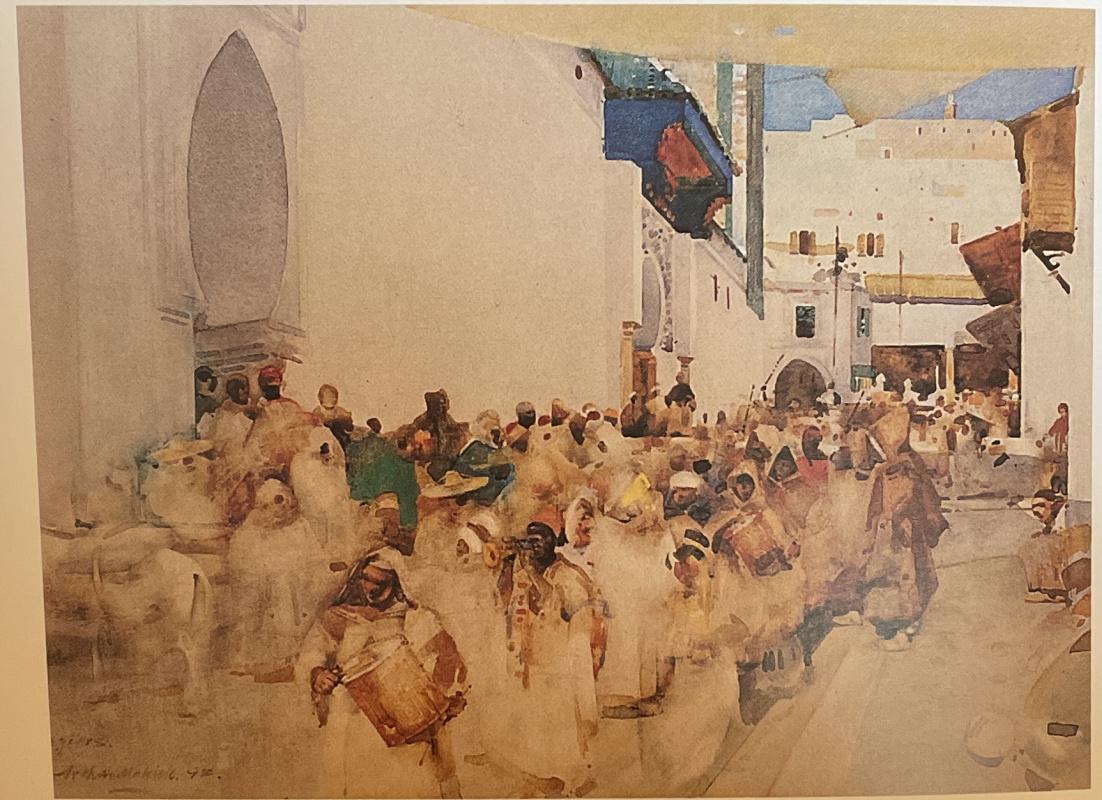 Arthur Melville. A moorish procession, Tangier