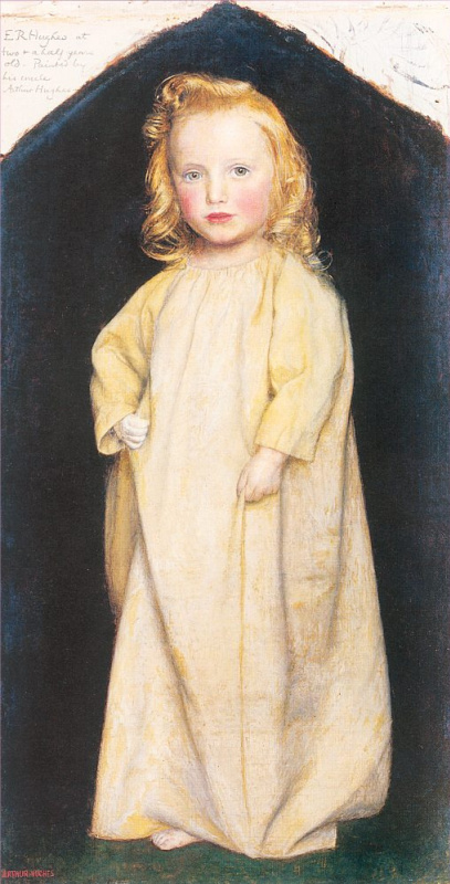 Arthur Hughes. Portrait of Edward Robert Hughes aged two-and-a-half years
