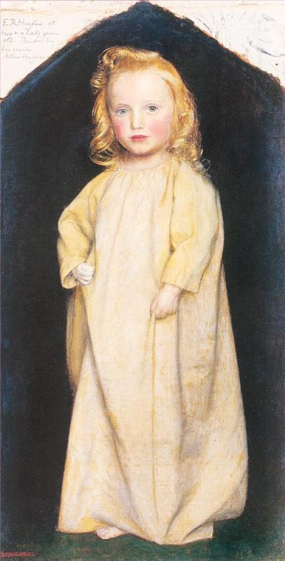 Артур Хьюз. Портрет Эдварда Роберта Хьюза в возрасте двух с половиной лет