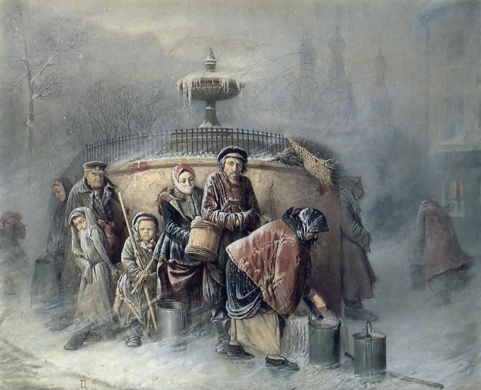 Василий Григорьевич Перов. Очередные у бассейна