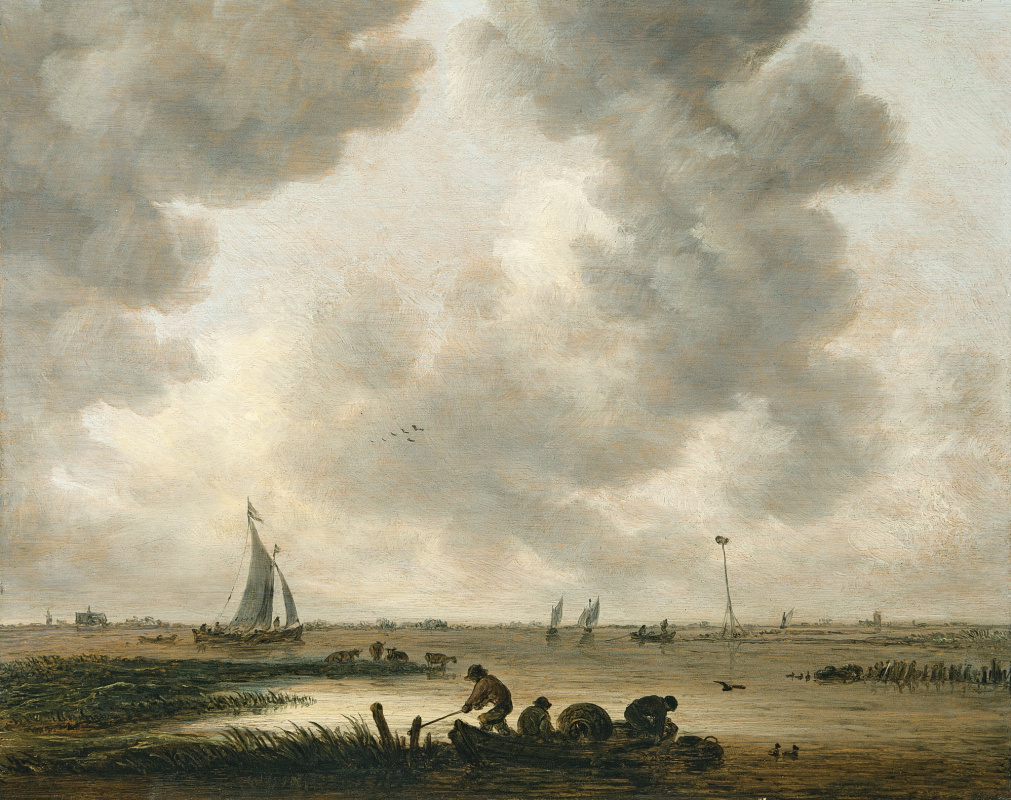 Jan van Goyen. The coast near Haarlem, with a distant view of the St. Bavo Church