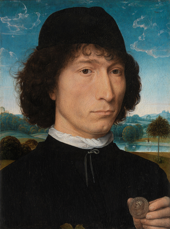 Hans Memling. A man with a Roman coin (the Portrait of Bernardo Bembo)