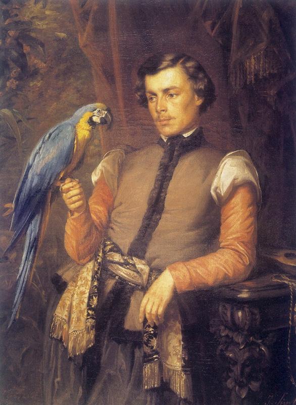 Дворянин с попугаем