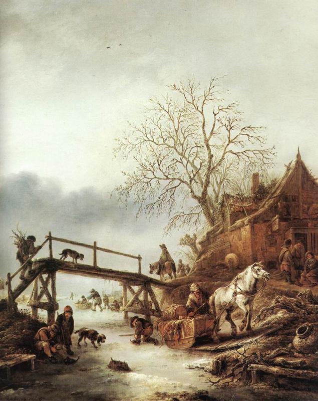 Исаак Янс ван Остад. Мост