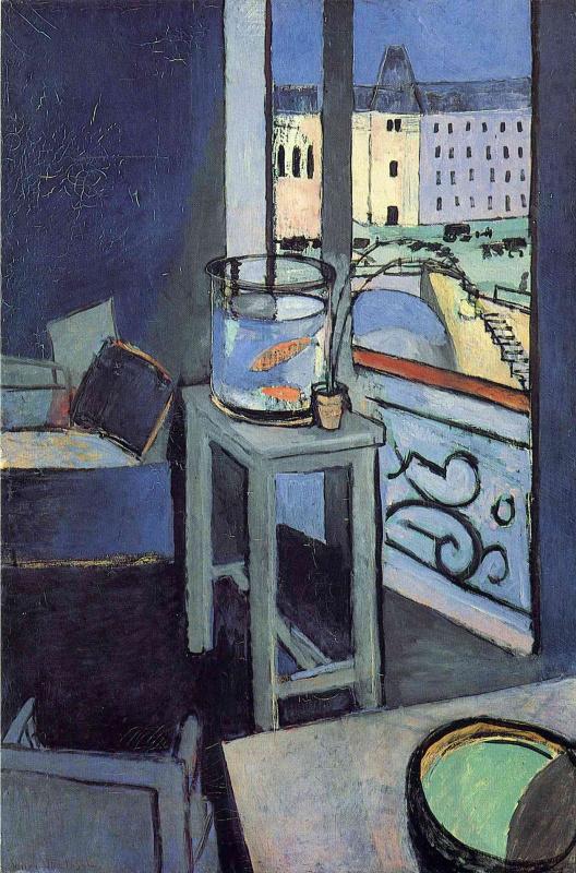 Henri Matisse. Interior with aquarium and red fish