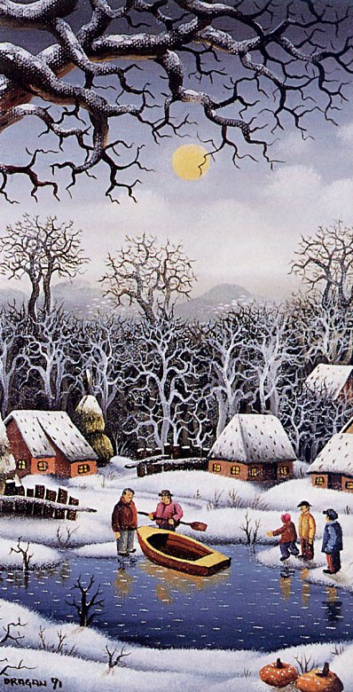 Драган Михайлович. Зимний вечер
